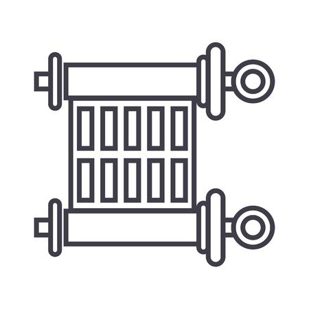 Een scroll vectorlijn pictogram.