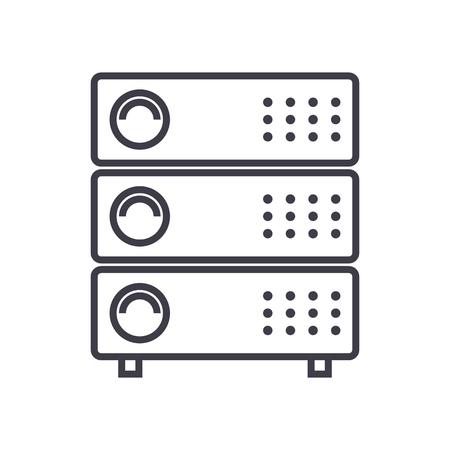 Servers illustration vector line icon. Illustration