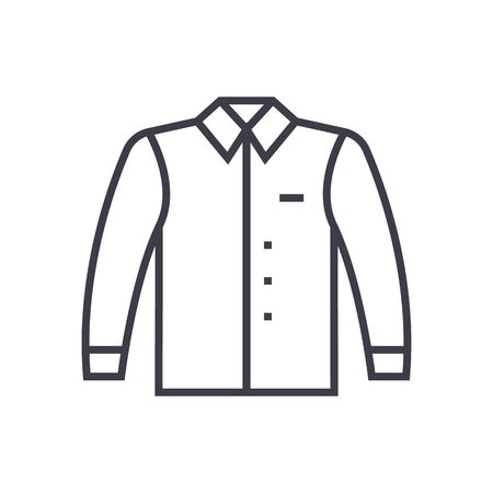textile image: A shirt vector line icon. Illustration