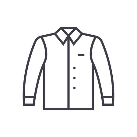Ein Hemd Vektor Liniensymbol. Standard-Bild - 87265828