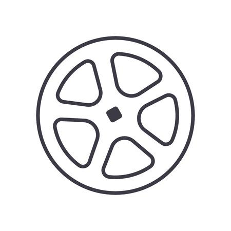 셔터 파이프 벡터 라인 아이콘, 기호, 흰색 배경에 그림 편집 가능한 획 일러스트