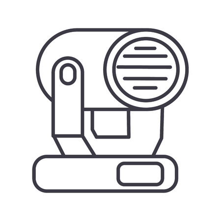 show lights  vector line icon, sign, illustration on white background, editable strokes Illustration