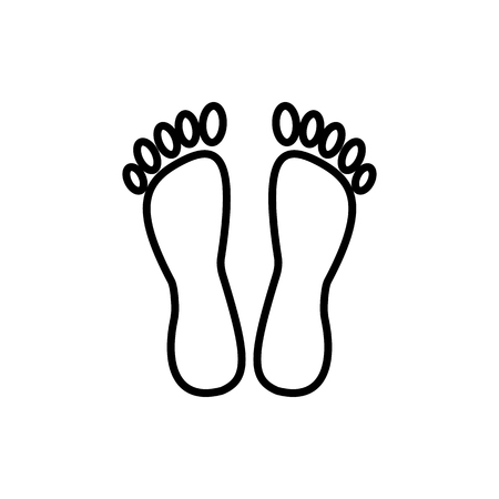 Feet vector line icon Stock fotó - 87284796