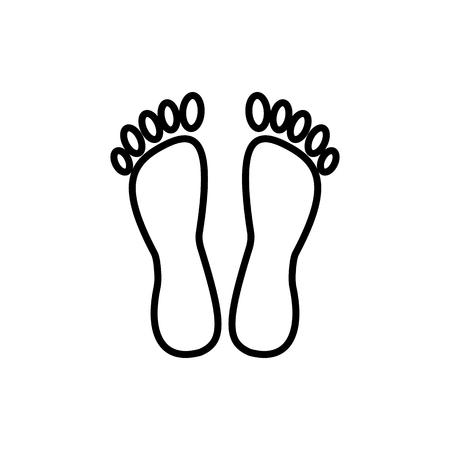 Feet vector line icon