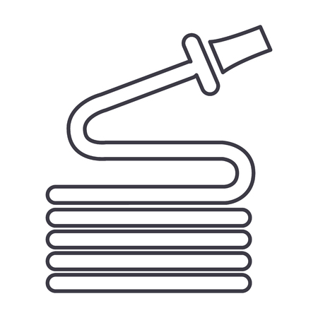 hose vector line icon, sign, illustration on white background, editable strokes