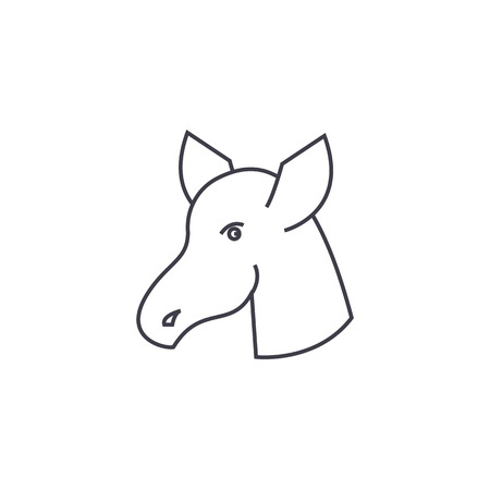 hoss vector line icon, sign, illustration on white background, editable strokes Ilustrace