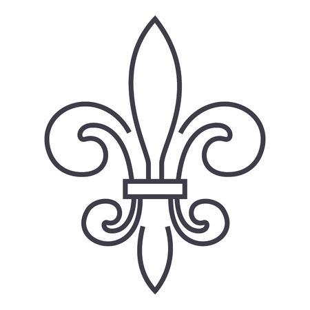 イタリアのフィレンツェベクトルラインアイコン、記号、白の背景にイラスト、編集可能なストローク