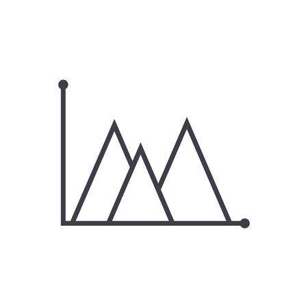line graph type vector line icon. Ilustração