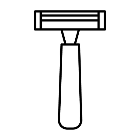 male razor vector line icon.
