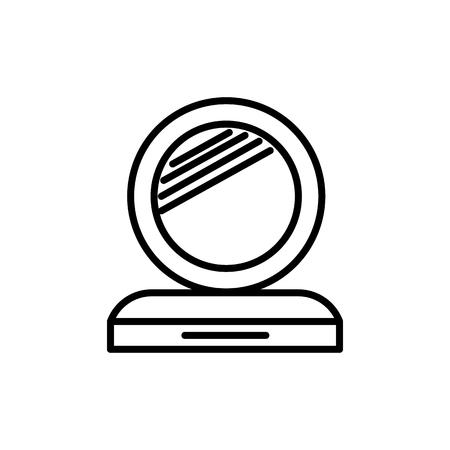 makeup mirror vector line icon. Illustration