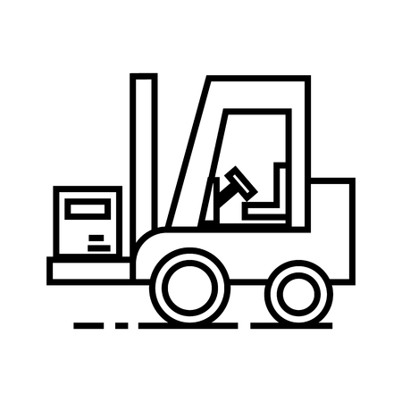 loader vector line icon, sign, illustration on white background, editable strokes