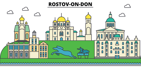 Russia, Rostov On Don. City skyline.