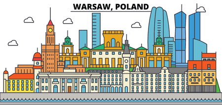 폴란드 도시의 스카이 라인