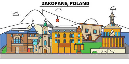 Poland, Zakopane City skyline