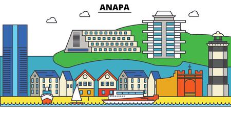Russia, Anapa City skyline