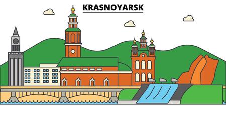 Russia, Krasnoyarsk City skyline