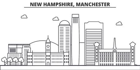 ニューハンプシャー州マンチェスター建築線スカイラインの図。