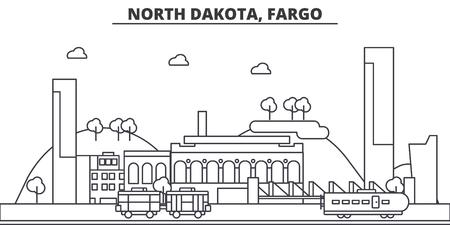 ノースダコタ州ファーゴ建築線スカイラインの図。