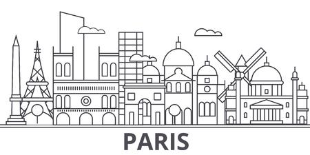 Illustration de Paris architecture ligne skyline. Banque d'images - 87748870