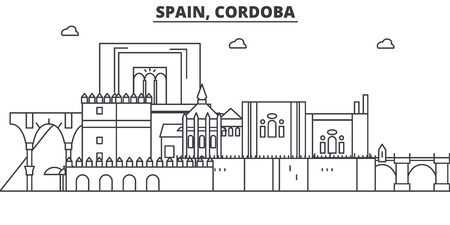 スペイン、コルドバの建築線のスカイラインの図。