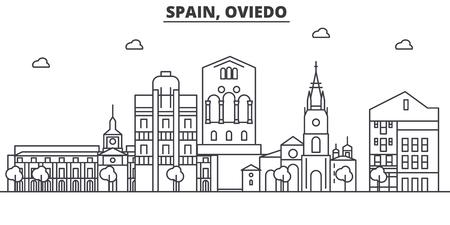 スペイン、オビエド建築線スカイラインの図。