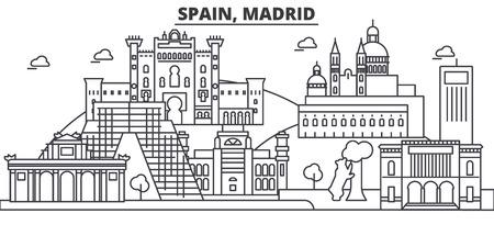 スペイン、マドリード建築線スカイラインの図。