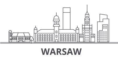 ワルシャワ建築線のスカイライン図。  イラスト・ベクター素材