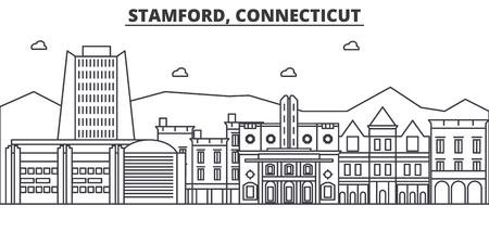 コネチカット州スタンフォード建築線スカイラインの図。