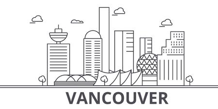 밴쿠버 아키텍처 라인 스카이 라인 그림입니다. 일러스트