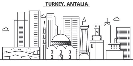 トルコ、Antalia 建築線スカイラインの図。