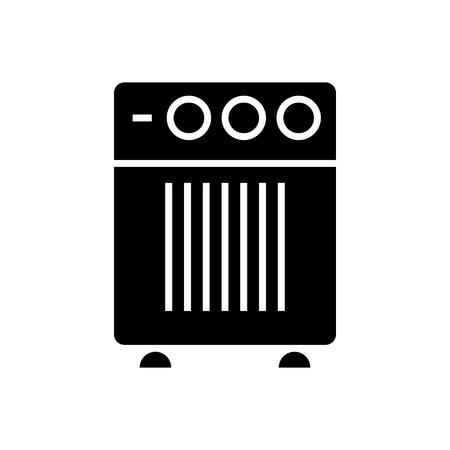 Icono de humidificador de filtro de aire, ilustración, vector de señal en el fondo aislado Foto de archivo - 88090130