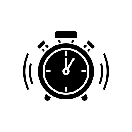 Alarm clock icon, illustration, vector sign on isolated background Illustration