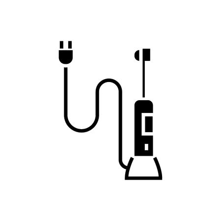 自動歯ブラシ アイコン、イラスト、ベクトル分離背景に記号