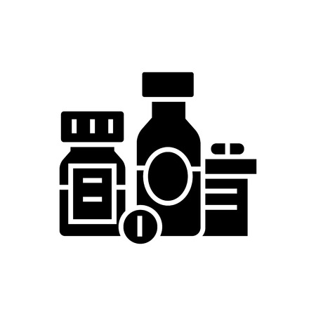 Biologically active additives - pills - medicament icon, illustration, vector sign on isolated background