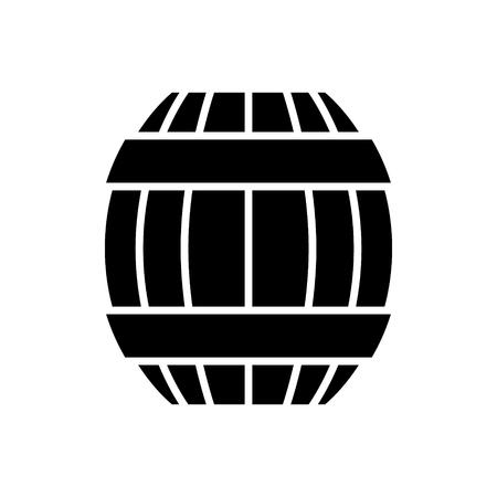 Icona del barilotto, illustrazione, segno di vettore su fondo isolato Archivio Fotografico - 88094451