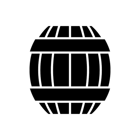 Barrel icon, illustration, vector sign on isolated background