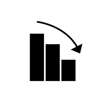 バー グラフィック降順アイコン、イラスト、ベクトル分離背景に記号  イラスト・ベクター素材