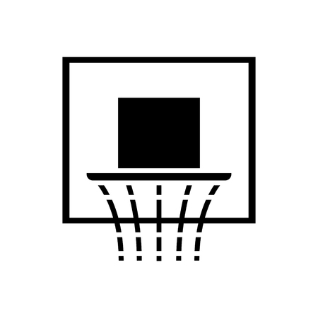 Basketball hoop icon, illustration, vector sign on isolated background