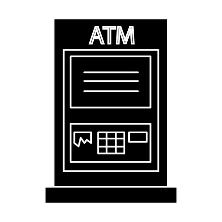 atm machine - payment icon, illustration, vector sign on isolated background