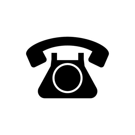 電話レトロ古いアイコン。