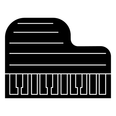 Piano groot icoon. Stock Illustratie