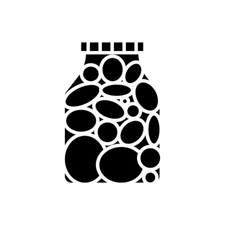 Cornichons tomate icône Banque d'images - 88100425