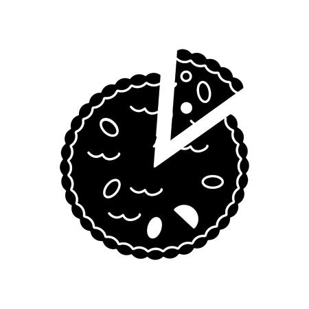 Pie bakery icon. Illustration