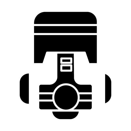 Piston repair car engine icon.