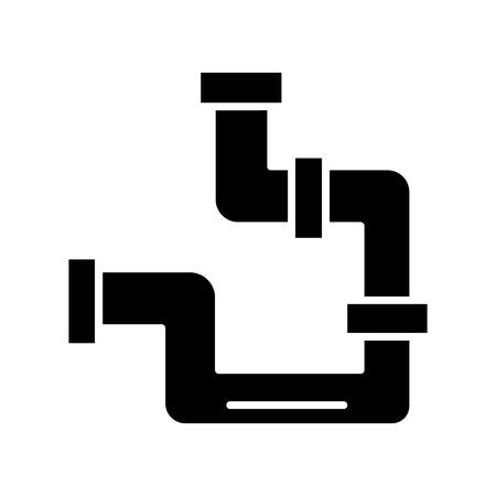Pipes plumber icon.