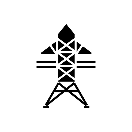Power lijn icoon Stockfoto - 88099404