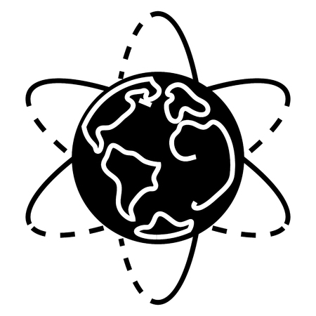 planet Earth icon, illustration, vector sign on isolated background