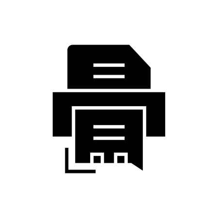 printer - fax icon, illustration, vector sign on isolated background