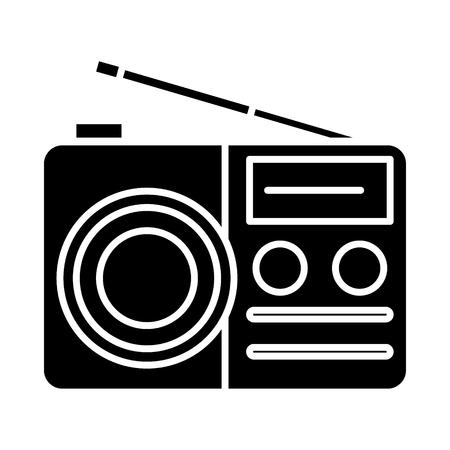携帯用ラジオ受信機アイコン  イラスト・ベクター素材