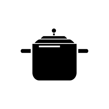 Pressure cooker - pot thermo icon, illustration, vector sign on isolated background Иллюстрация